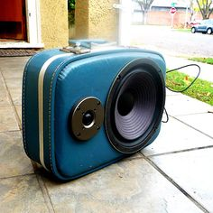 The boom case portable sound system for ipods/mp3 music players etc.
