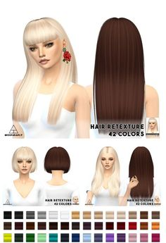 Miss Paraply: Hair retextures / Nightcrawler hairs • Sims 4 Downloads