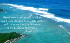 I have been a seeker...