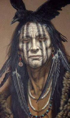 American Indian's History: Native American Art / Looks like this was the inspiration for the make-up of Tonto in the Lone Ranger Movie. Native American Beauty, American Indian Art, Native American History, American Indians, American Crow, American Prayer, Native American Face Paint, Native American Warrior, American Artists