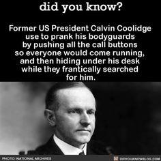 Calvin you prankster. #funny #interesting #president #pranks Download our free App: [LINK IN BIO]
