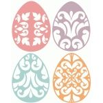 4 floral easter eggs