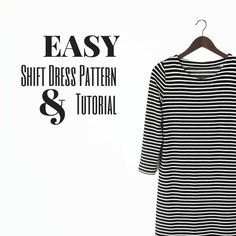 I'm convinced shift dresses should be the new jeans. A solid shift dress  pattern can be used to fit any occasion by just altering the details (the  material, the sleeves, the size, etc., etc., etc.) of the dress.  The original shift dress that this tutorial was based on was for a dinner  my h