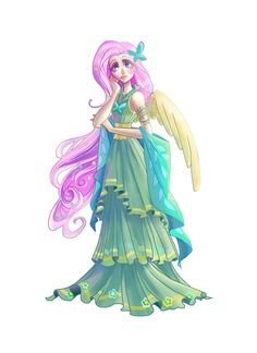 fluttershy and discord human - Google Search