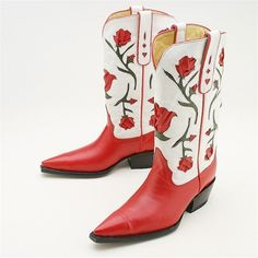 Jever Boots - Red Inlay Western Boot Inlay over stitching most definitely