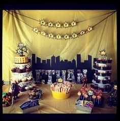 Super hero party dessert table http://www.melssweetshop.biz/