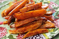 Roasted Sweet Potatoes with Honey & Cinnamon Glaze Recipe on Yummly. @yummly #recipe
