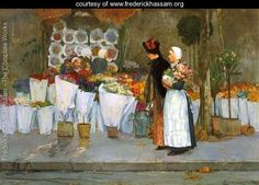 At the Florist  Frederick Childe Hassam