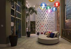 Mostra Pólo Design Center  - Arq. Ivan Moreira Pinto #ceramicaportinari. Produto Cerâmica Portinari. Salas, Rooms, Sala.
