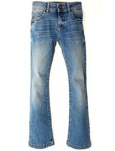 Bootcut stretch jeans Kinderkleding meisjes 17,00€ Denim style De stijl van de jaren 70, zelfs voor je dochter! - Jeans van stretch katoen - Bootcut / wijd uitlopend mo