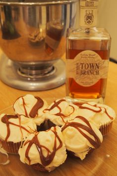 Town Branch bourbon cupcakes are a delicious twist on the ever-popular cupcake