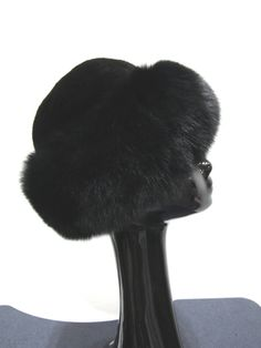 417a39a9033 New Black Dyed Mink and Black Dyed Fox Cuff Hat