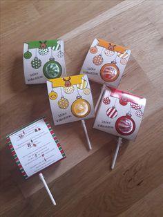 Kleine Weihnachtsüberraschung, einfach ausdrucken, falten und Lolly einstecken. Viel Spaß beim Basteln und Austeilen. Jetzt auf: www.materialtanten.de