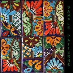 Talavera Light Switch Plate Cover - Single Flip Switch, Assorted Colors