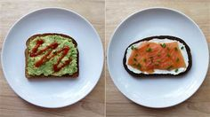 Toast topper recipes: Avocado toast and salmon on toast
