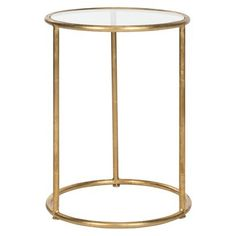 Safavieh Shay Accent Table - Gold | bedside table idea