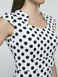 Buy vintage polka dot bodycon dress online with cheap prices and discover fashion bodycon dresses at fashionmia com Polka Dot Bodycon Dresses, Bodycon Outfits, Dot Dress, Dress Neck Designs, Blouse Designs, Discount Womens Clothing, Kurta Neck Design, Vetement Fashion, Overall