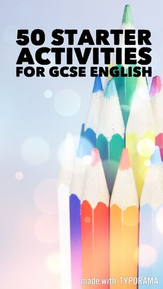 Here are 50 starter activities which can be used in the GCSE English classroom. All are tried and tested, most involve very little preparation. I hope you find something useful! Language starter activities 1. Dictionary definition – Put a key