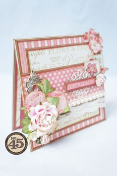 A card featuring Graphic 45's Botanical tea collection. ♥ ~by Arlene Cuevas