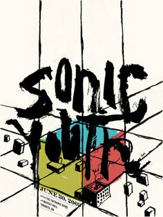 Sonic Youth Concert Poster by Delicious Design League (SOLD OUT)
