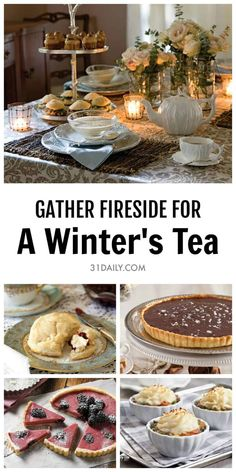 Winter Afternoon Tea for Chilly, Snowy Days Gather friends near for a cozy winter's tea by the fireside. A Winter Afternoon Tea for Chilly, Snowy Days Winter Tea Party, Christmas Tea Party, Christmas Afternoon Tea, Winter Parties, Afternoon Tea Recipes, Afternoon Tea Parties, Afternoon Tea Scones, Afternoon Tea Tables, English Afternoon Tea