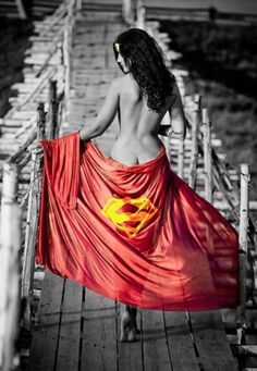 There are times I wanna remove all the fashion and let my supergirl spirit play on the beach.