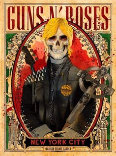 Guns N' Roses @ Madison Square Garden in New York City Guns N Roses, Tour Posters, Band Posters, Music Posters, Concert Flyer, Concert Posters, Rock Roll, Pink Floyd, Heavy Metal Rock