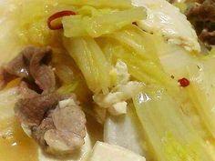 白菜と豚肉とお豆腐の中華風旨煮。の画像
