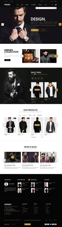 Hermes Ecommerce PSD Template is an eCommerce website template designed in Photoshop with a modern look. It comes in 7 stunning homepage layouts and well organized 32 PSD files.