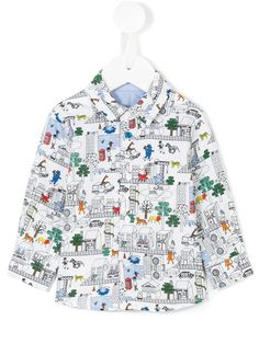 Paul Smith Junior cartoon print shirt