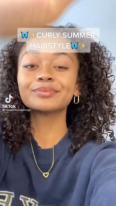 Curly Hair Styles Easy, Cute Curly Hairstyles, Girls Natural Hairstyles, Hairstyles For School, Summer Hairstyles, Medium Hair Styles, Natural Hair Styles, Long Hair Styles, Medium Length Curly Hairstyles