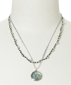 Take a look at this Chalcedony & Silver Hope Pendant Necklace by Elly Preston Jewelry on #zulily today!