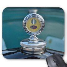 Vintage car hood ornament mouse pad