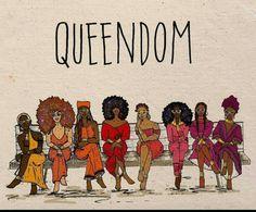 Queendom melanin black is beautiful black women queens Black Love Art, Black Girl Art, My Black Is Beautiful, Black Girl Magic, Art Girl, Black Girl Cartoon, Beautiful Friend, Beautiful Images, Natural Hair Art