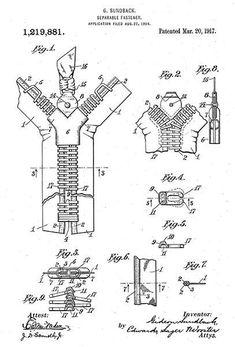 20 free vintage printable blueprints and diagrams remodelaholic 1917 separable fastener zipper g sundback patent art poster patentartposters malvernweather Images