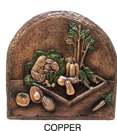 Design Tuscany Mediterranean Vegetables Backsplash & Mural Tile, Copper, As Shown Kitchen Mosaic, Copper Kitchen, Kitchen Backsplash, Kitchen Cabinets, Tuscan Design, Tuscan Style, Traditional Tile, Tuscan House, Trends