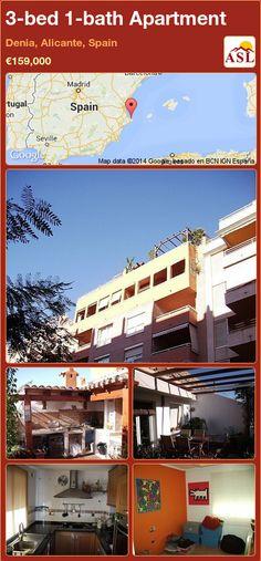 3-bed 1-bath Apartment in Denia, Alicante, Spain ►€159,000 #PropertyForSaleInSpain