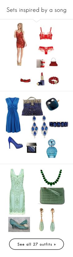 Sets inspired by a song by lisha30-2010 on Polyvore featuring polyvore, fashion, style, Agent Provocateur, Estée Lauder, T+C by Theodora & Callum, clothing, Selection Privee, CZ by Kenneth Jay Lane, Monet, Pomellato, GUESS, Burberry, Marc Jacobs, Anne Sylvain, Bling Jewelry, Monsoon, Hari Jewels, Alexander McQueen, Judith Leiber, Maybelline, Hanky Panky, Oscar de la Renta, Lauren Ralph Lauren, Wet Seal, music, Fulton, HoneyBee Gardens, Lancôme, Ellie, 3AM Imports, Lanvin, Elizabeth and…