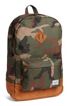 Herschel Supply Co.  Heritage Plus  Leather Trim Backpack  30a1304723272