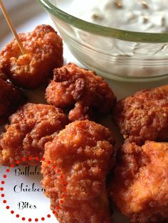 On the Menu Today~  Buffalo Chicken Bites   Welcome Back to Football Friday  and the  Game Day Recipe~  Buffalo Chicken Bites with  Blue Che...
