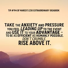 Rise above the stress!