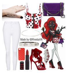 """Wydowna Spider (Monster High)"" by rheebavn ❤ liked on Polyvore featuring Giuseppe Zanotti, Topshop, STELLA McCARTNEY, Alexander McQueen, Rimmel and 2Me Style"