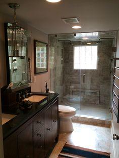 The finished Master Bath (2nd floor hallway bath)