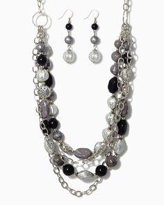 charming charlie | Geologic Treasures Necklace Set | UPC: 410006740358 #charmingcharlie