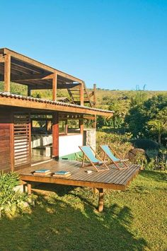 Architecture – Enjoy the Great Outdoors! Deck Design, House Design, Tyni House, Haus Am See, House On Stilts, Earthship, Tropical Houses, My Dream Home, Dream Homes