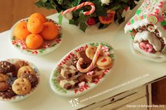 Christmas Cookies and Candy A 1/12 scale dollhouse miniature. $25.00, via Etsy.