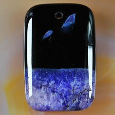 Purple Agate Druzy Geode Pendant Bead Q8072 | eBay