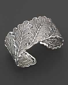 "Cuff | Buccellati Designs. ""Oak leaf"". Sterling silver."