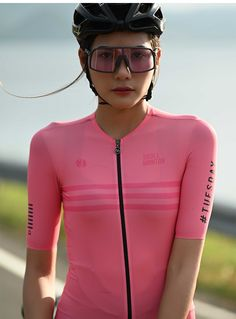 SKULL MONTON 2020 best summer bike jersey light coral online for sale. Women's bicycle clothing cool design lightweight with bonus zip pocket. Women's Cycling Jersey, Cycling Gear, Cycling Outfit, Cycling Jerseys, Bicycle Women, Bicycle Girl, Cycling Sunglasses, Bicycle Clothing, Bike Wear