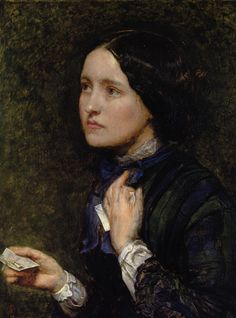 Sir John Everett Millais, Wedding Cards. Oil on panel. Smaller than a piece of A4 paper in size. Sold at Christie's to a private collector in 2008.